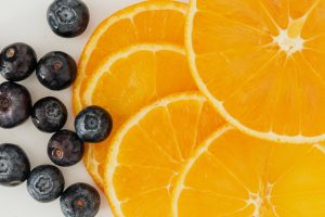 Orange and blueberries