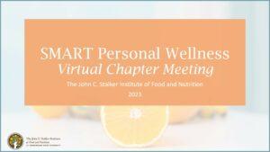 SMART Personal Wellness Virtual Chapter Meeting